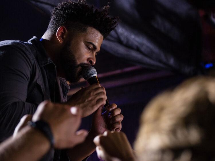 singer performing on-stage