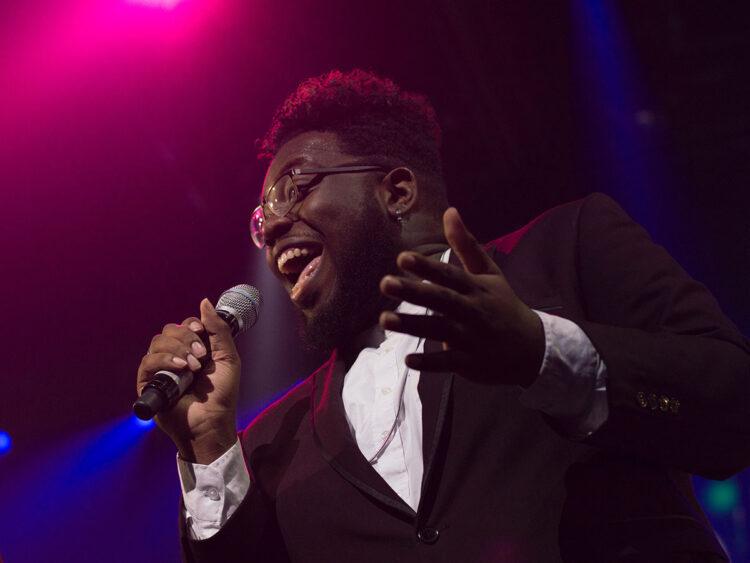 Male gospel singer